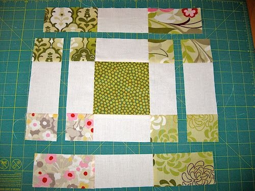 disappearing 9 patch variation block with charm squares Elegant Nine Patch Variations Quilt Patterns Gallery