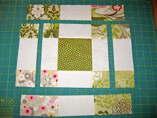 disappearing 9 patch variation block with charm squares Stylish 9 Patch Quilt Pattern Variations Gallery