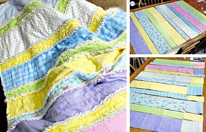 diy flannel ba rag quilt one good thing jillee Elegant String Pieced Rag Quilt Pattern