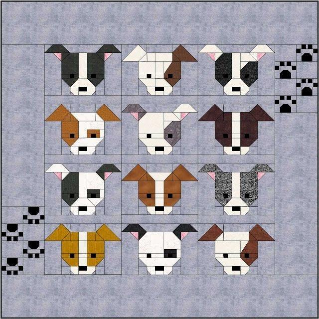 dog gone cute paw print bonus border blocks sew fresh Cool Sew Fresh Quilts Dog Gone Cute Gallery
