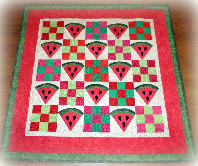 doodlebugs and rosebuds quilts the watermelon quilt Unique Watermelon Quilt Pattern Inspirations