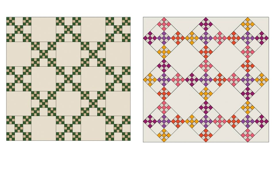 double nine patch quilt block pattern Double Nine Patch Quilt Pattern Gallery
