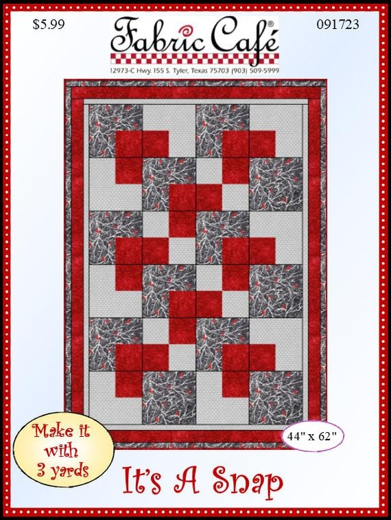 downloadable its a snap quilt pattern easy 3 yard design Cool Quilt Patterns Using 3 Fabrics Gallery