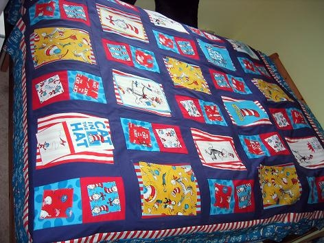 dr seuss cat in the hat quilt bunks blog Interesting Cat In The Hat Quilt Pattern
