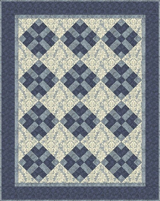 easy 3 color quilt patterns got blues monochromatic Elegant Three Color Quilt Patterns Inspirations