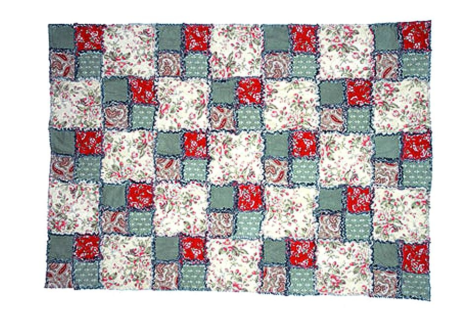 easy and free double four patch rag quilt pattern Interesting 4 Inch Square Quilt Pattern