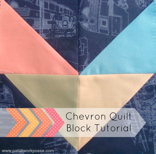 easy chevron quilt block tutorial patchwork posse Chevron Quilt Block Pattern Gallery