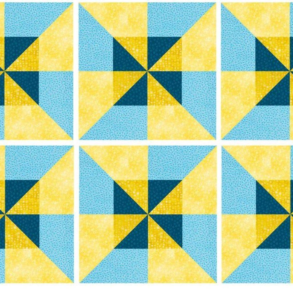 easy double pinwheel quilt block pattern Modern Double Pinwheel Quilt Pattern Inspirations