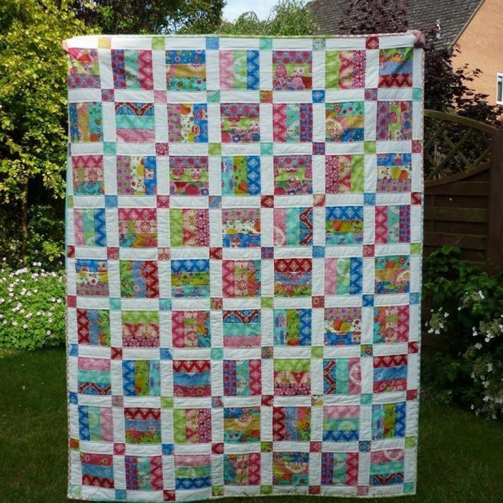 easy jelly roll quilt pattern 6 sizes bluprint Cozy Quilt Patterns For Jelly Rolls