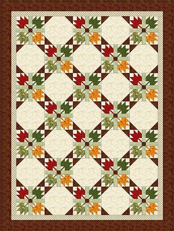 easy maple leaf quilt pattern Elegant Maple Leaf Quilt Block Pattern Gallery