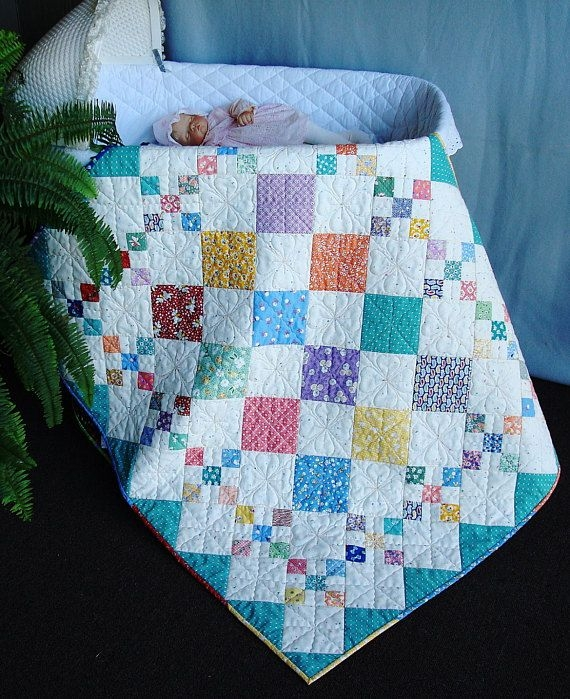 easy pdf quilt pattern diamond patch ba to king size Interesting Crib Size Quilt Patterns