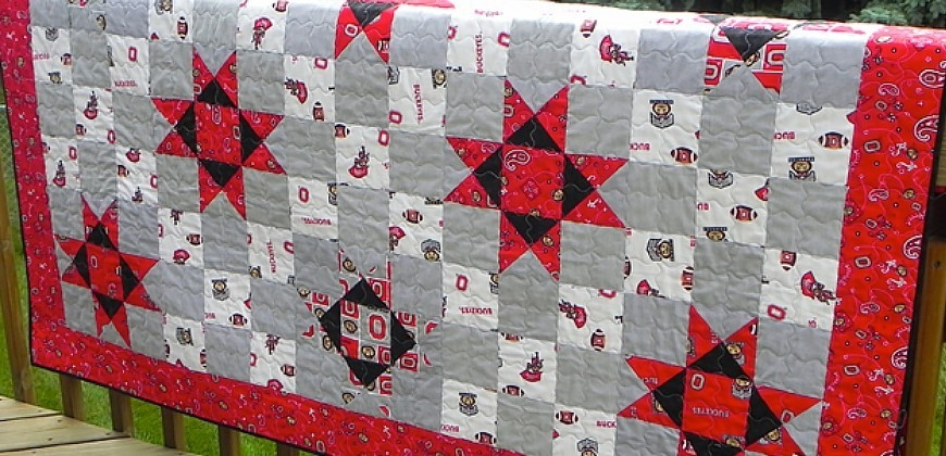 easy quilt blocks for football fans accuquilt accuquilt Elegant Accuquilt Quilt Patterns Gallery