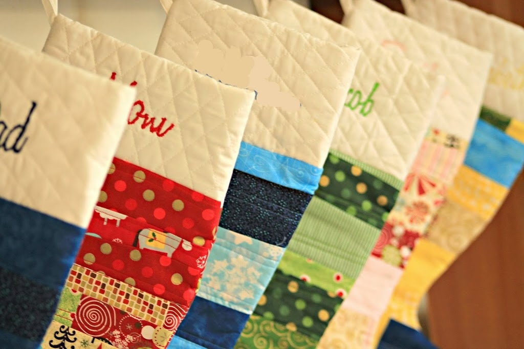 easy quilted christmas stocking tutorial u create Modern Quilted Stocking Patterns Gallery