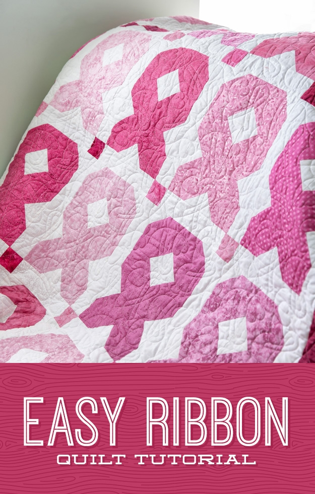easy ribbon quilt missouri star blog Cool Cancer Ribbon Quilt Pattern Gallery