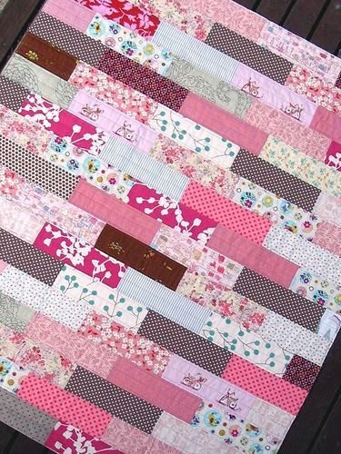 easy scrap quilts beginners pretty in pink quilt quilting Interesting Easy Scrap Quilt Patterns