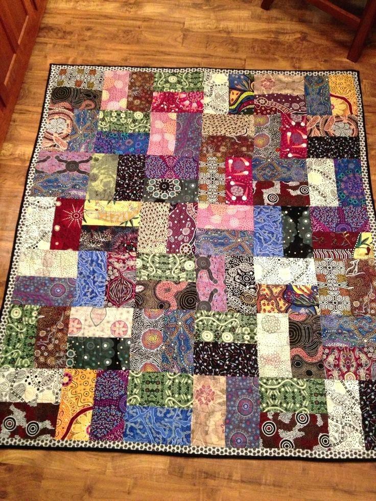 easy strip quilt patterns for beginners aussie fence easy Stylish Strip Pieced Quilt Patterns Inspirations