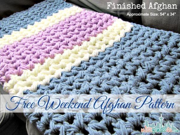 easy weekend crochet afghan free pattern crochet afghan Unique Crochet Quilt Patterns Beginners