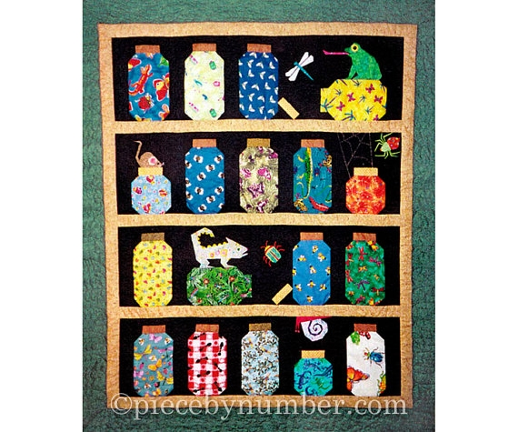 escaping bugs bottle quilt pattern pdf paper piecing Canning Jar Quilt Pattern Inspirations