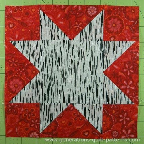 evening star quilt block tutorial 4 6 8 10 and 12 Unique Generation Quilt Patterns Inspirations