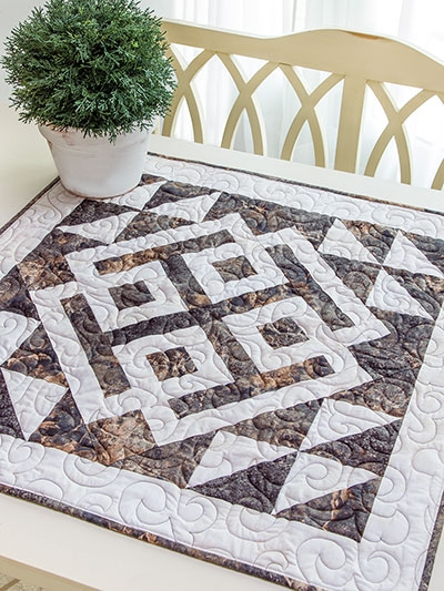 exclusively annies quilt designs modern celtic table topper pattern Cool Quilted Table Topper Patterns Inspirations