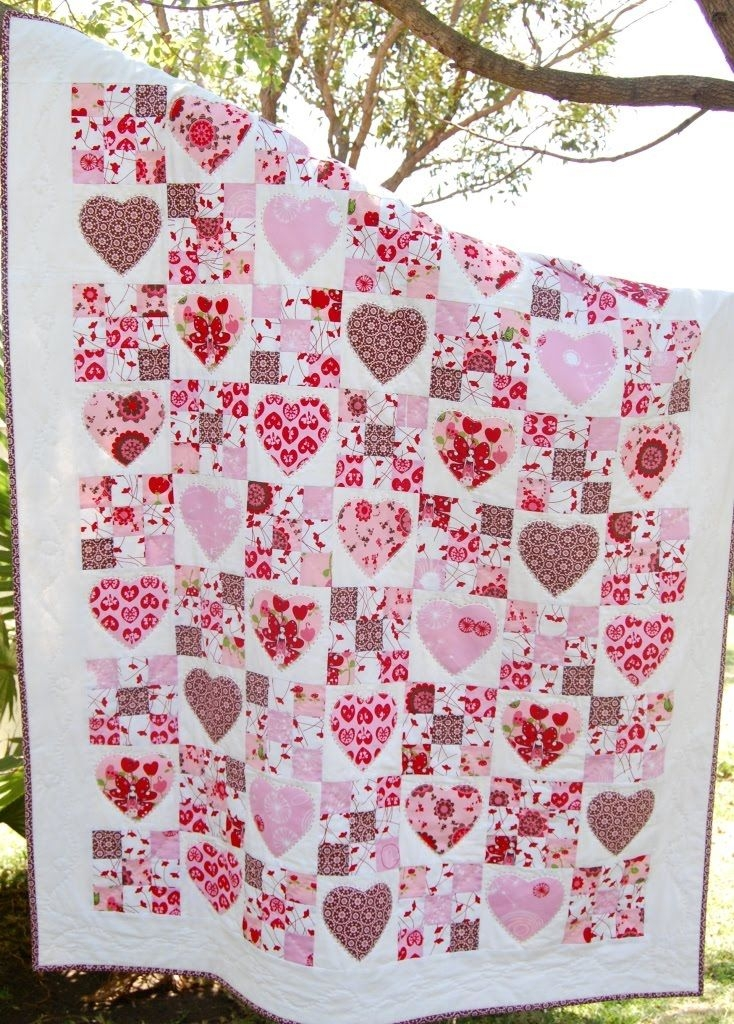 fairy hearts quilt pattern at kate conklin designs nine Modern Heart Applique Quilt Patterns