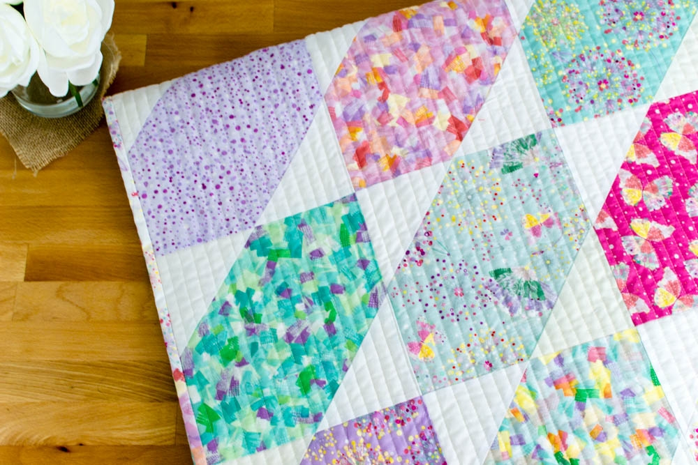 fat quarter fancy free quilt pattern using 9 fat quarters Interesting Free Block Quilt Patterns For Beginners Inspirations