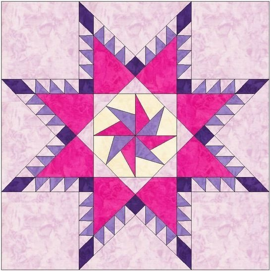 feathered pinwheel star 10 inch block paper piecing foundation quilt pattern Cozy Foundation Quilt Patterns Inspirations