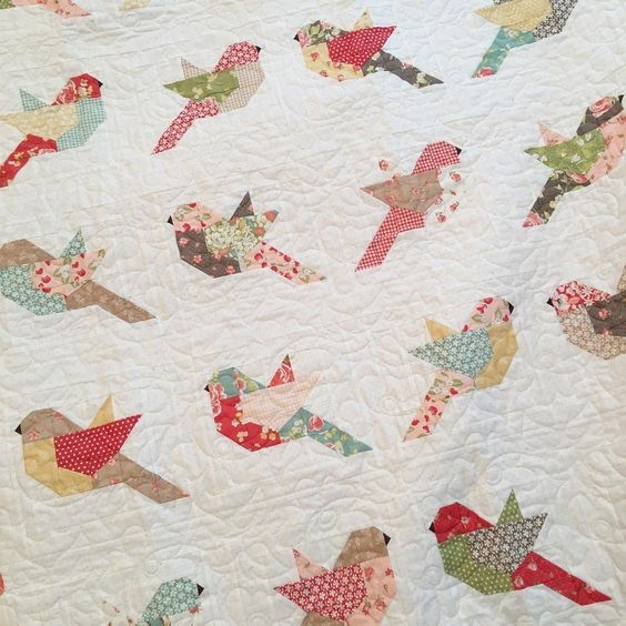 feathers quilt kit Modern Birds Of A Feather Quilt Pattern Inspirations