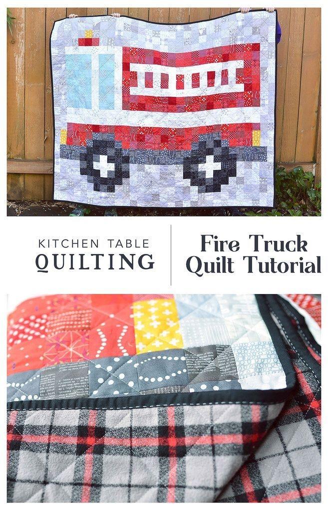 firetruck quilt tutorial patchwork ba quilt patterns Stylish Fire Truck Quilt Pattern Inspirations