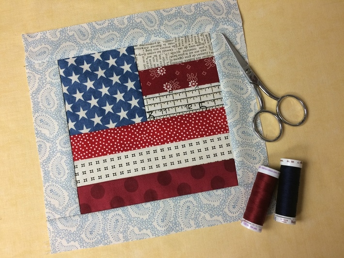 flag quilt block tutorial free on bluprint Cozy American Flag Quilt Pattern