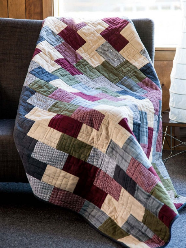 flannel brick road quilt pattern download Brick Road Quilt Pattern