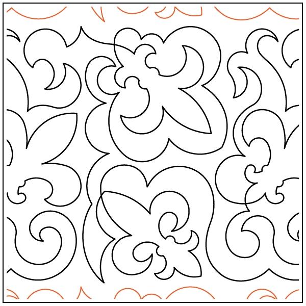fleur de lis shield pantograph Stylish Fleur De Lis Quilt Pattern