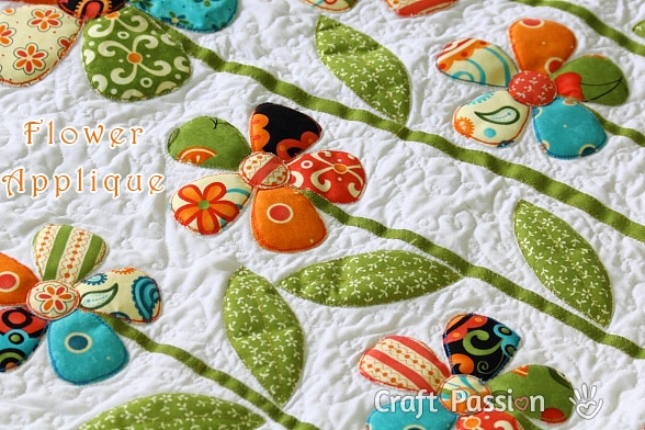flower applique free applique pattern craft passion Cool Applique Quilts Patterns Gallery