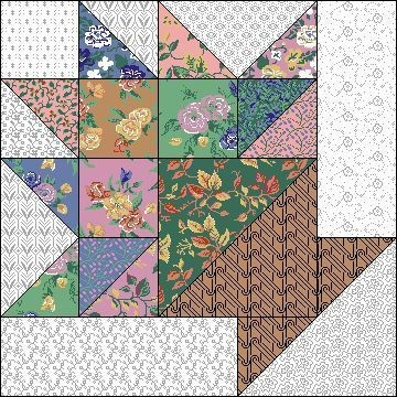 flower basket 10 block boarder quilt blocks quilt Interesting Flower Basket Quilt Pattern