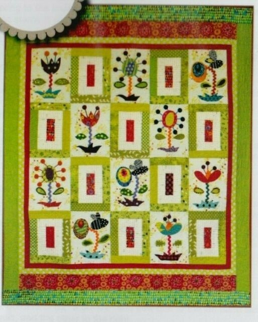 flower power applique pieced and embellished quilt pattern sue spargo Modern Flower Power Quilt Pattern Gallery
