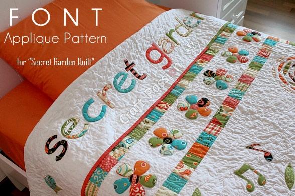 font applique secret garden quilt craft passion free Cozy Applique Patterns For Quilts