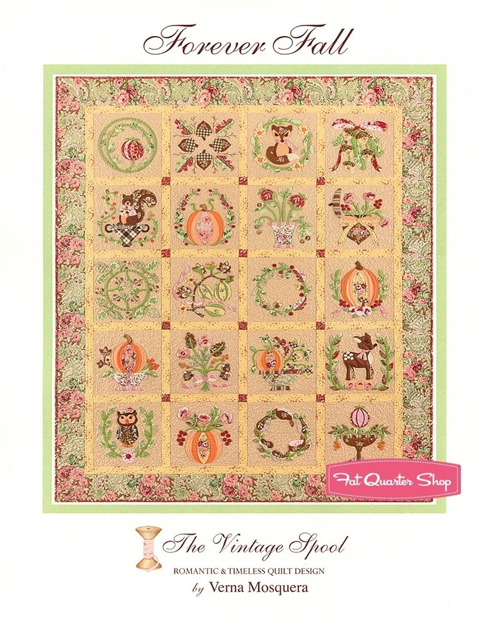 forever fall quilt pattern the vintage spool vs 177 fat Stylish Vintage Spool Quilt Patterns Inspirations
