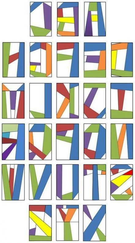 free alphabet quilt block pattern google search Elegant Alphabet Quilt Block Pattern