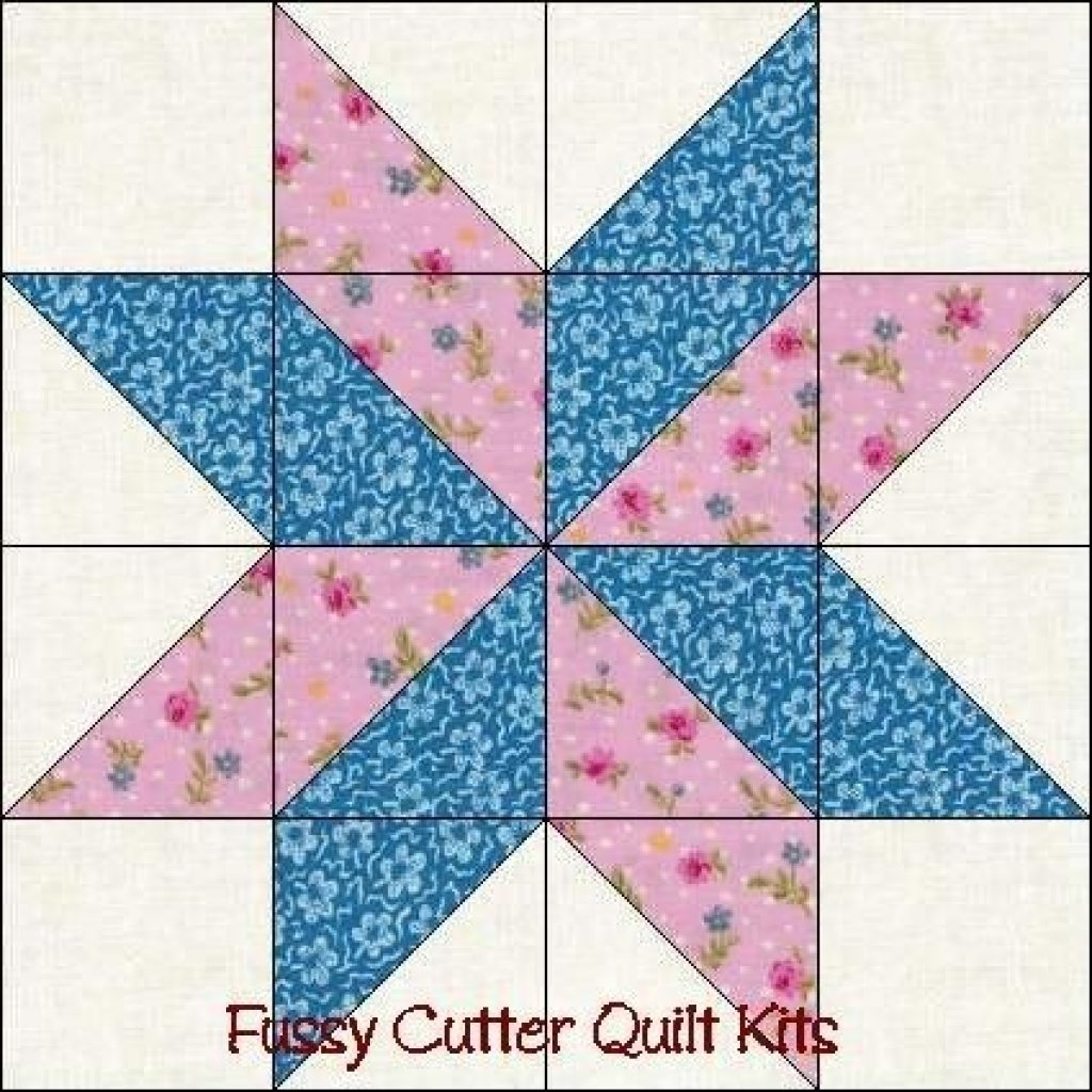 free easy quilt block patterns points star pre cut Cozy Easy Quilt Block Pattern Gallery