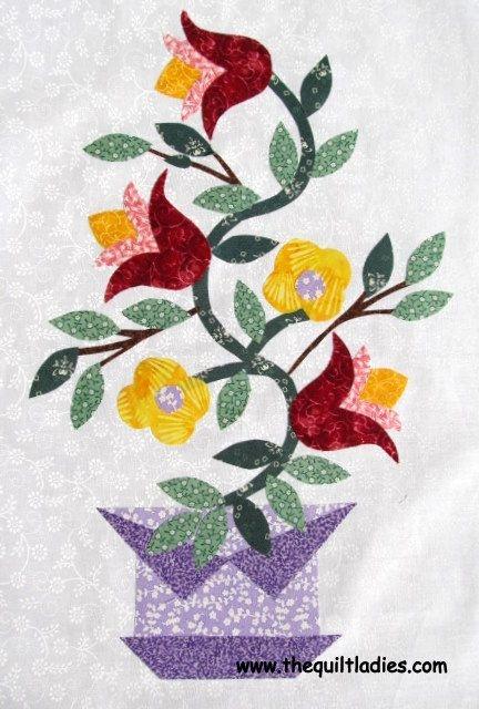 free flower applique patterns the quilt ladies book Applique Flower Quilt Patterns
