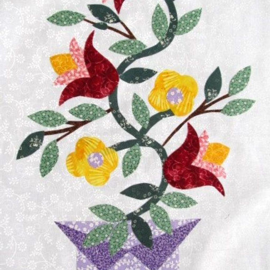 free flower applique patterns the quilt ladies book Modern Flower Applique Quilt Patterns Inspirations