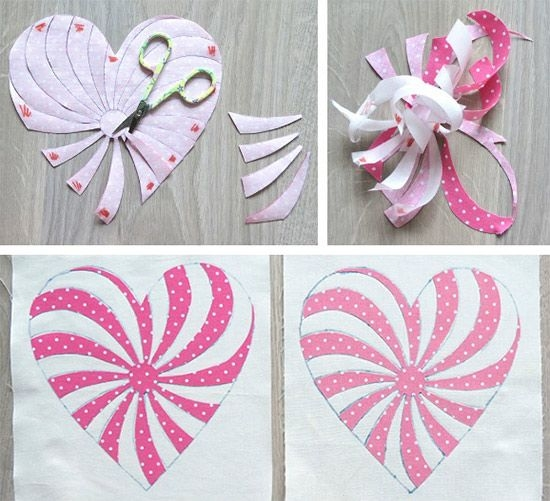 free heart pattern for quilts coasters placemats getas Unique Applique Heart Quilt Patterns Inspirations