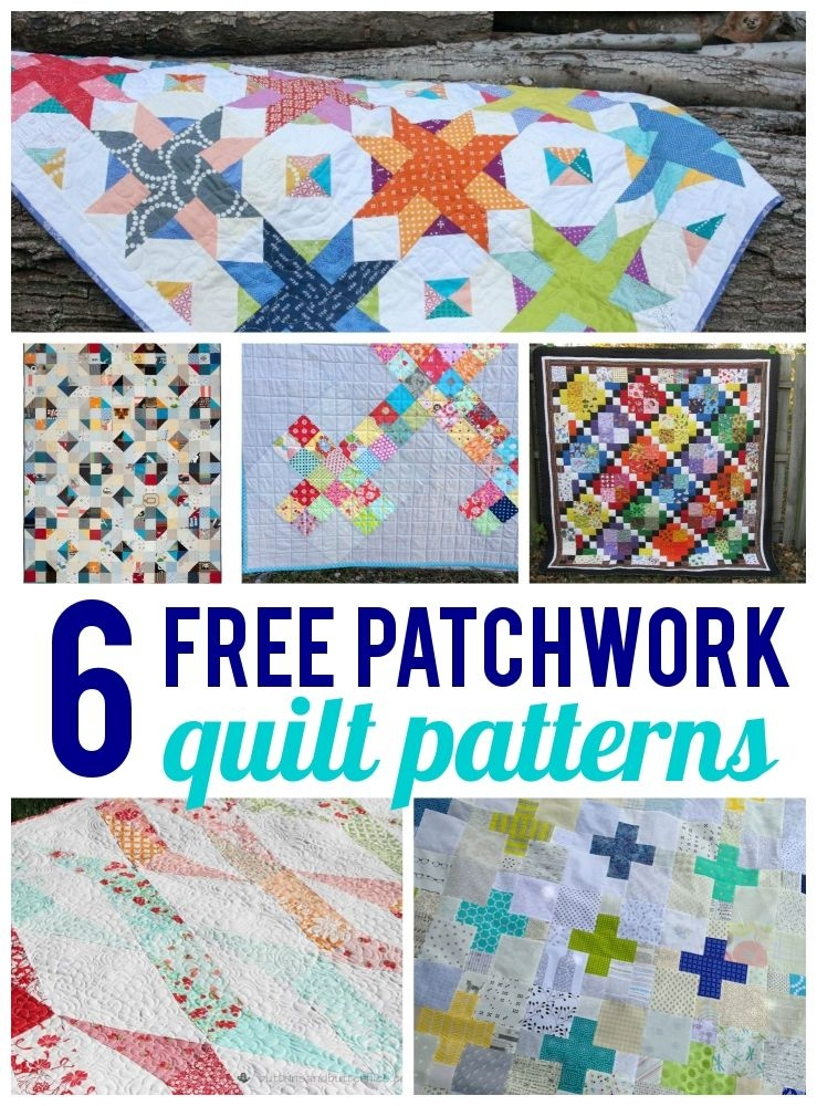 free patchwork quilt patterns on bluprint quilt patterns Cool 6 Fabric Quilt Patterns Inspiration Gallery