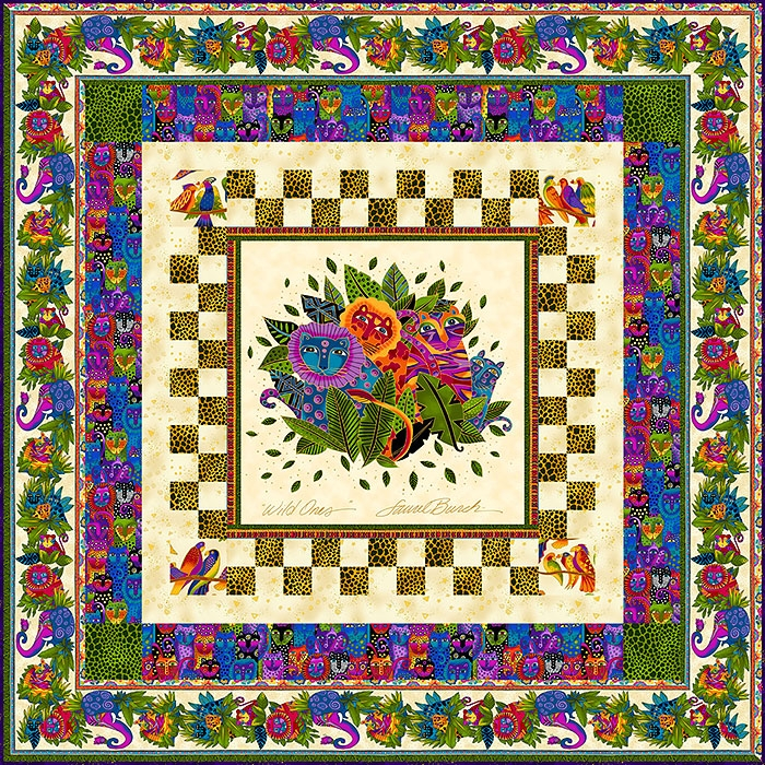 free pattern laurel burch wild ones equilter Cozy Laurel Burch Quilt Patterns Gallery
