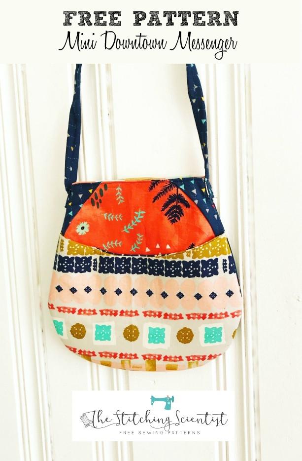 free pattern mini downtown messenger bag the stitching Modern Quilted Messenger Bag Pattern