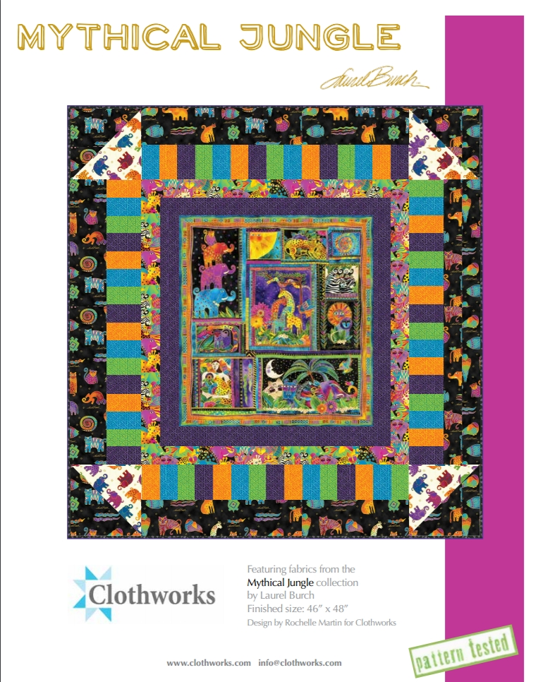 free pattern mythical jungle quilt pattern laurel burch Cozy Laurel Burch Quilt Patterns Gallery