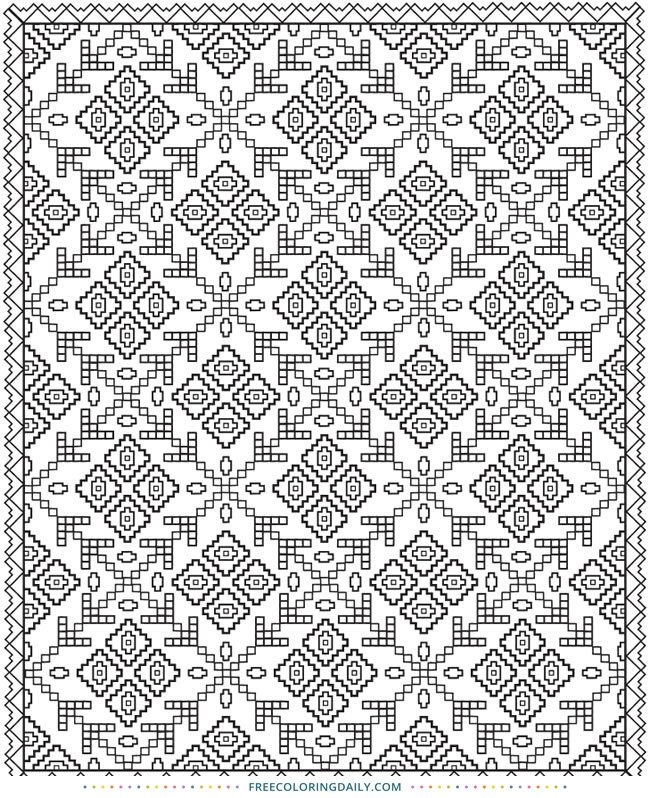 free printable quilt pattern coloring page free coloring daily Modern Quilt Pattern Coloring Pages Inspirations