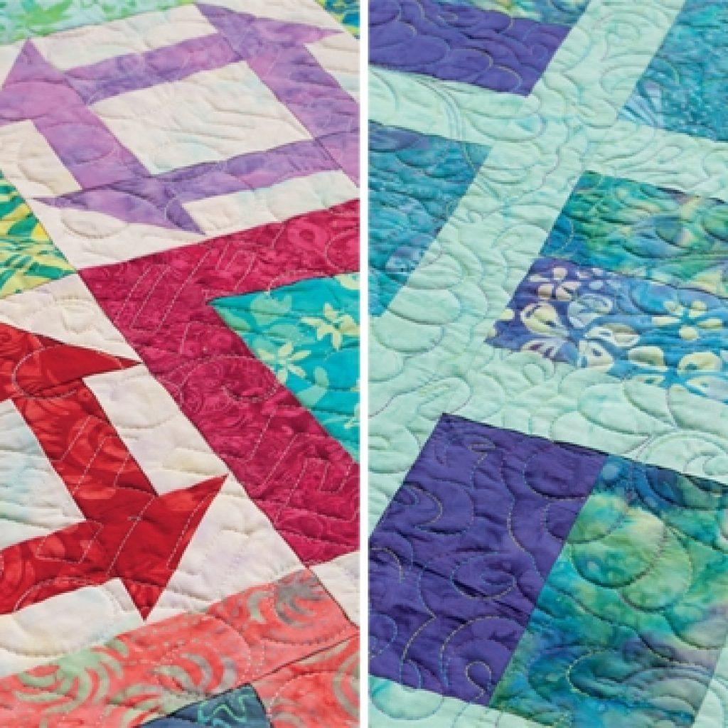 free quilt pattern for batiksand jelly rolls stitch this Unique Batik Quilt Patterns Easy Inspirations