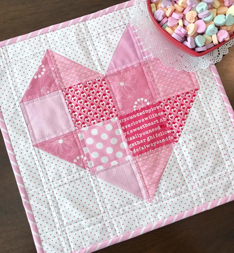 free quilt pattern heart quilt block i sew free Heart Quilt Block Patterns Gallery