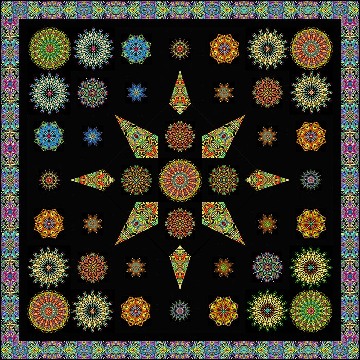 free quilt pattern moroccan mosaic equilter blogequilter Interesting Mosaic Quilt Patterns Gallery